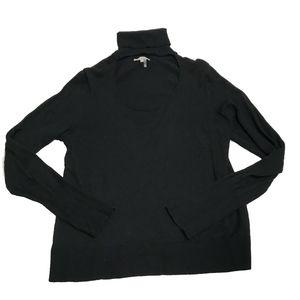 1. State Black Turtleneck Cut Out Sweater Blouse